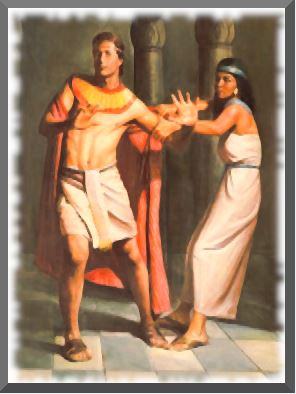 Potiphar's wife sexually assaulting Joseph