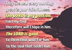 Lamentations 3:21-26